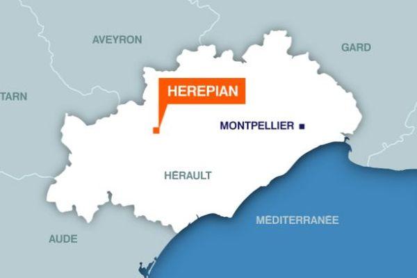 Carte d'Hérépian (Hérault)