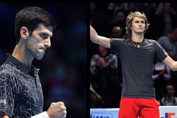 Novak Djokovic joue la finale contre Alexander Zverev qui a fait tomber Roger Federer.