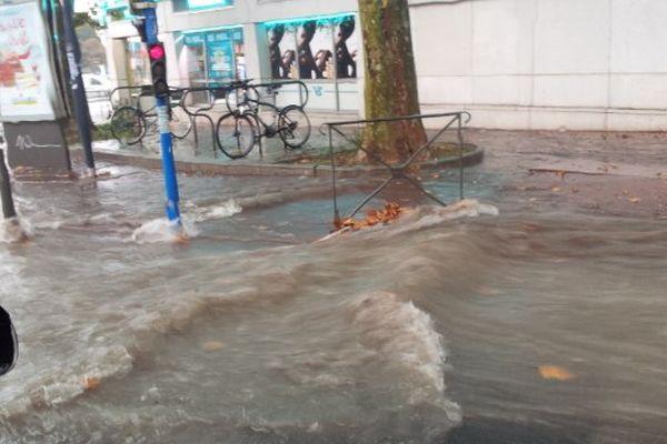 Les rues de Montpellier inondées le 29 septembre 2014