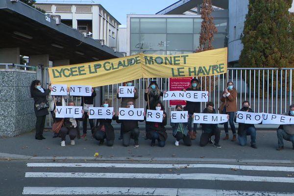 2 novembre 2020 - Grève au lycée Claude Monet du Havre