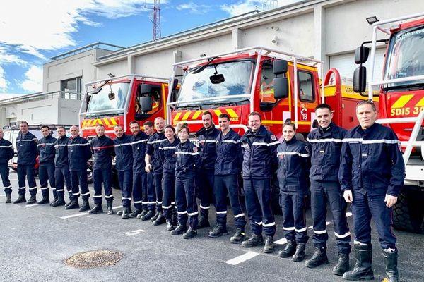 Nîmes - 18 pompiers du Gard en renfort en Corse - février 2020.
