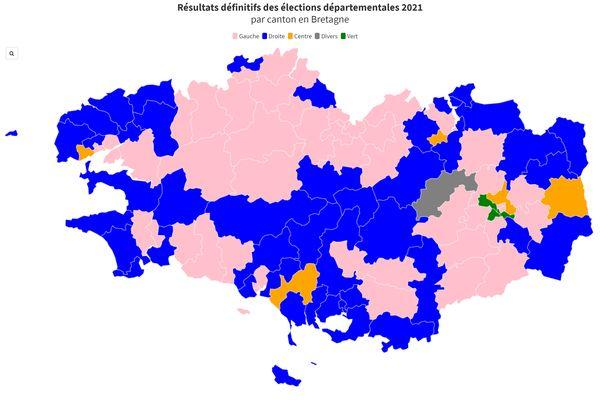 Les résultats définitifs des élections départementales 2021, canton par canton.