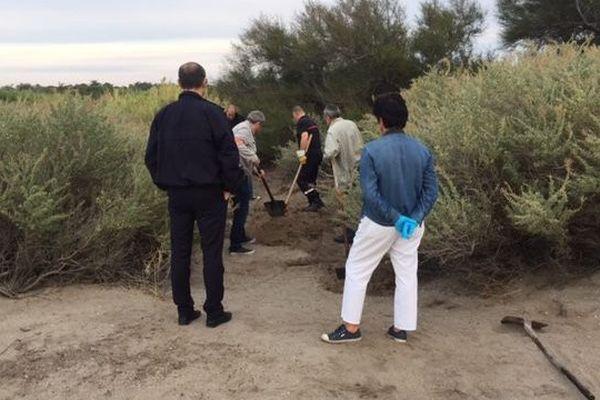 Les enquêteurs ont trouvé des ossements sur les berges de l'étang du Barcarès, dans les Pyrénées-Orientales, peut-être en lien avec l'affaire Benitez - 23 septembre 2016