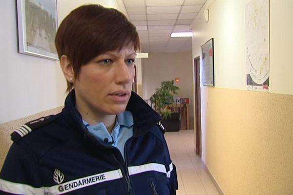 Commandant Céline Michta, Chef d'escadron, compagnie d'Epernay