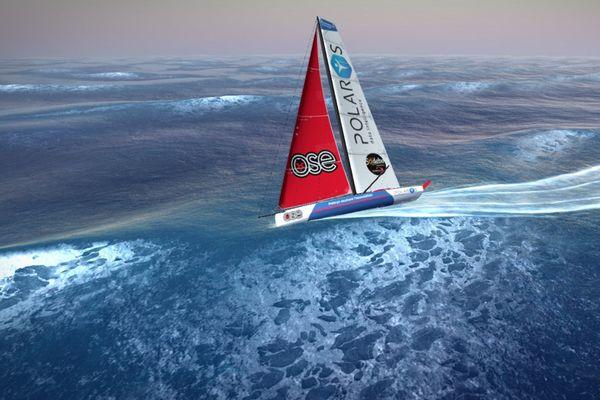 Le voilier virtuel de Loïck Peyron