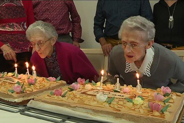 Geneviève et Marie, les jumelles fêtent leurs 100 ans, octobre 2019