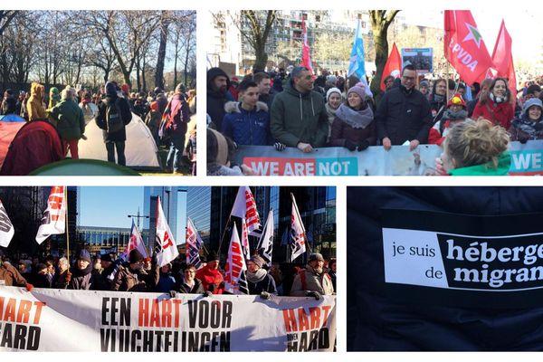 Plusieurs partis politiques et association, comme Médecins du monde, se sont joints à la manifestation.