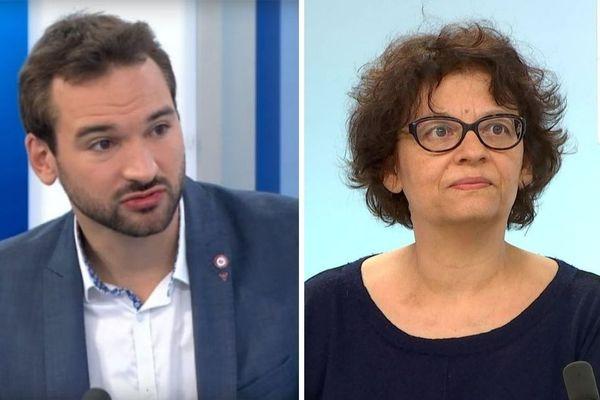 La France insoumise a choisi ses chefs de file dans les Hauts-de-France pour les régionales de 2021 : ce sera Ugo Bernalicis (ici en 2017) et Evelyne Becker (ici en 2020).