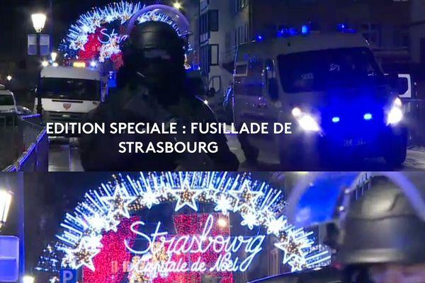 Edition spéciale ce mercredi 12 décembre à 9h50 sur France 3 Grand Est, consacrée à la fusillade survenue le 11 décembre à Strasbourg.