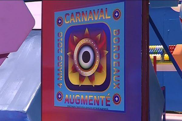 """Ce logo avec les signes """"+"""" indique qu'un élément du carnaval comporte une animation en réalité augmentée."""