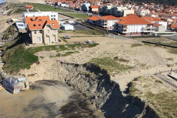 Biscarosse fait partie des communes du littoral atlantique où l'érosion gagne du terrain.