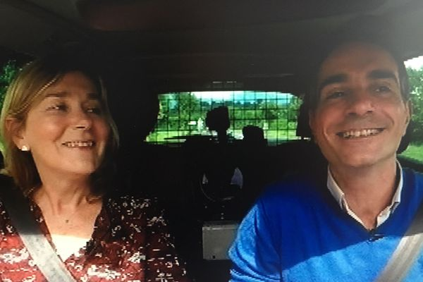 Valérie Mathieu et Richard Beaune en route pour découvrir la nouvelle saison de la Comédie de Clermont.