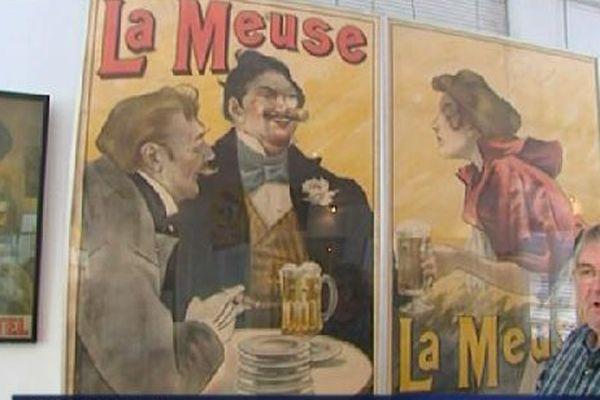 """L'ancienne bière """" La Meuse""""."""