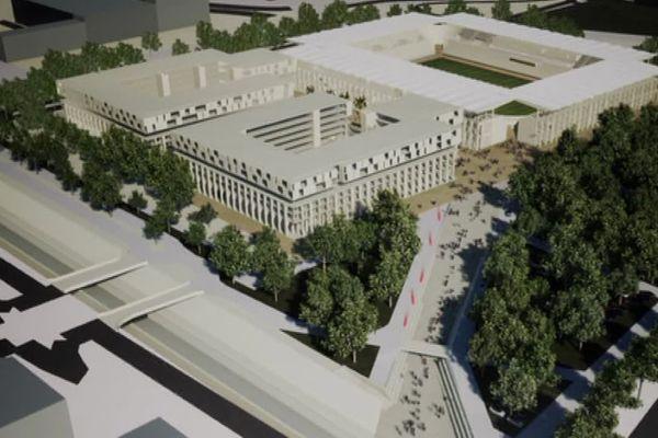 Nîmes - le visage du nouveau stade qui devrait voir le jour en 2025 - juillet 2019