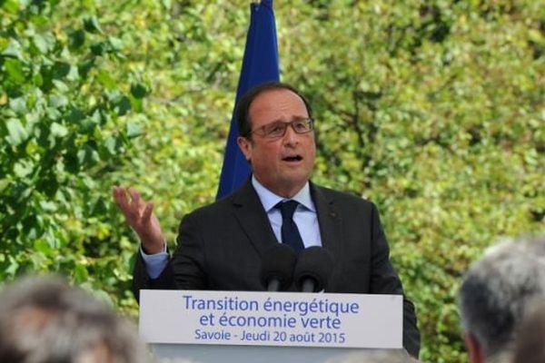 François Hollande lors de son discours au Châtelard en Savoie