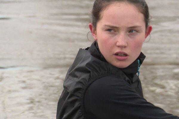 D'après son entraîneur, les points forts de Claire sont sa détermination et sa combativité.