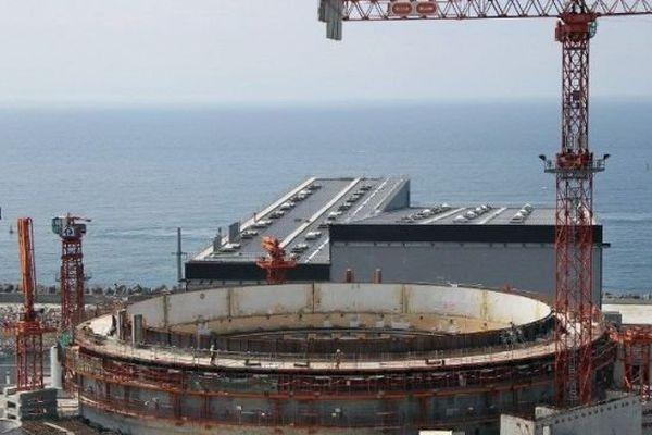 Le chantier du réacteur EPR de Flamanville, le 20 juin 2013.
