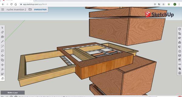 Con este sistema de cajones es posible que el apicultor cambie las herramientas sin molestar al enjambre.