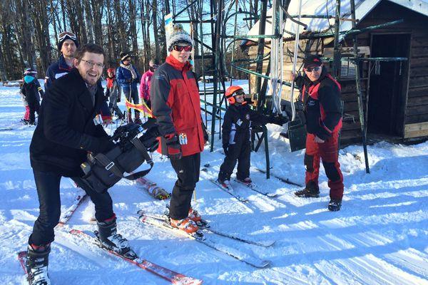 Notre Journaliste Reporter d'Images (JRI), Mickaël Martin, sur ses skis !