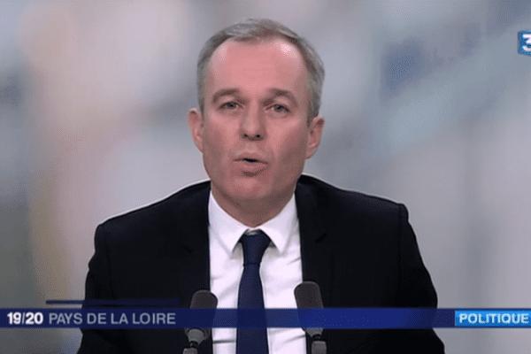 François de Rugy, invité du JT de France 3 Pays de la Loire le 23 janvier 2017