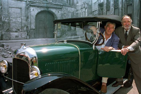 Jean-Claude Bouillon alias Valentin dans la série des Brigades du Tigre, avec Jean-Paul Tribout, Pujol.