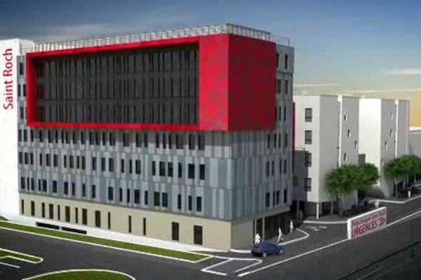 La nouvelle clinique Saint-Roch dans le quartier des Grisettes de Montpellier