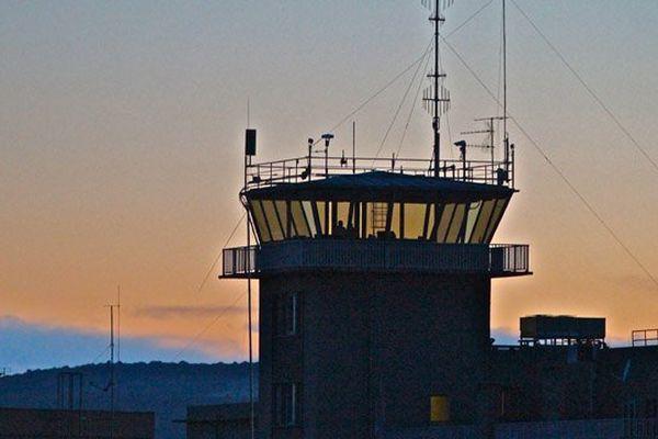 Coucher de soleil sur la base aérienne de Dijon