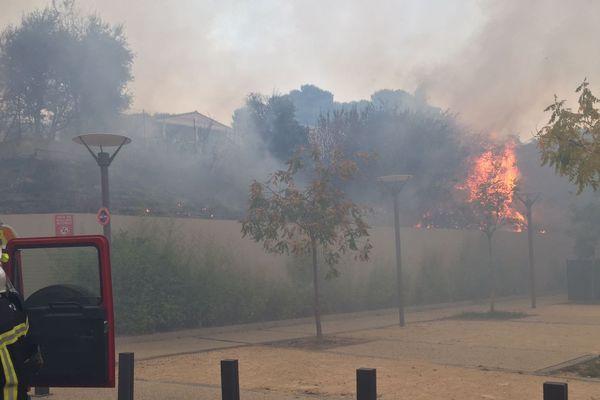Incendie important entre Combaillaux et Grabels, dans l'Hérault - 6 septembre 2017