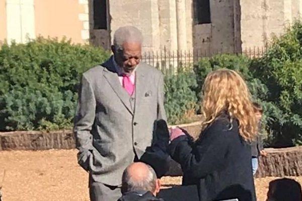 Le comédien américain Morgan Freeman est actuellement en tournage à Chartres