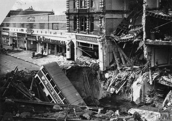 Le quartier de Balham, au sud de Londres, bombardé le 15 octobre 1940.