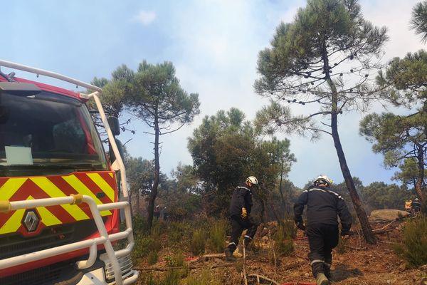 Cinq pompiers ont été blessés lors de l'incendie de Bizanet, dont un gravement - 17 août 202.