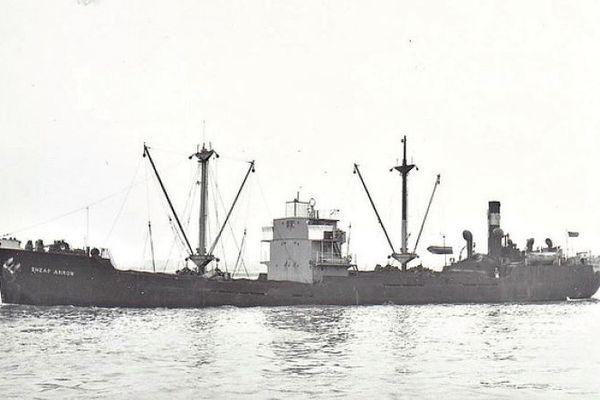 "L'""Empire Roseberry"" avant son naufrage en août 1944"