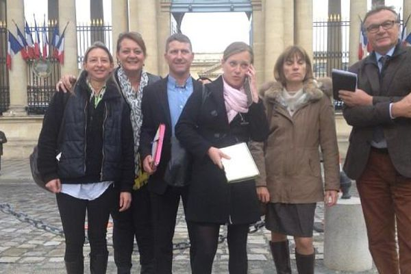 Cinq militants anti-GDE de Nonant-le-Pin, ont été reçus à l'Assemblée Nationale à Paris, ce mercredi 29 octobre.