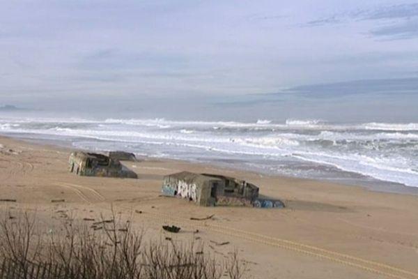 c'est sur la plage centrale de Labenne que la vague a happé la jeune femme.