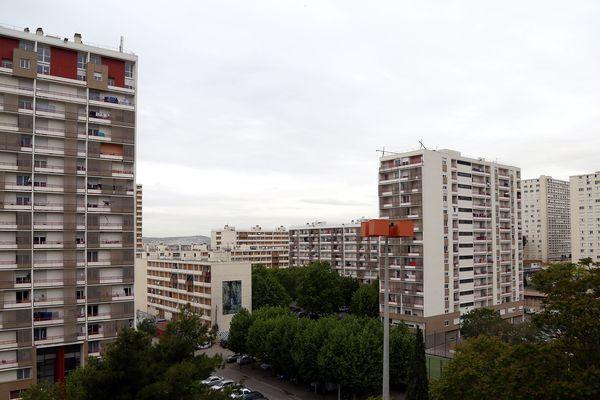 La cité de la Busserine à Marseille.
