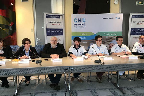 Conférence de presse sur le Coronavirus au CHU d'Angers, le 2 mars 2020