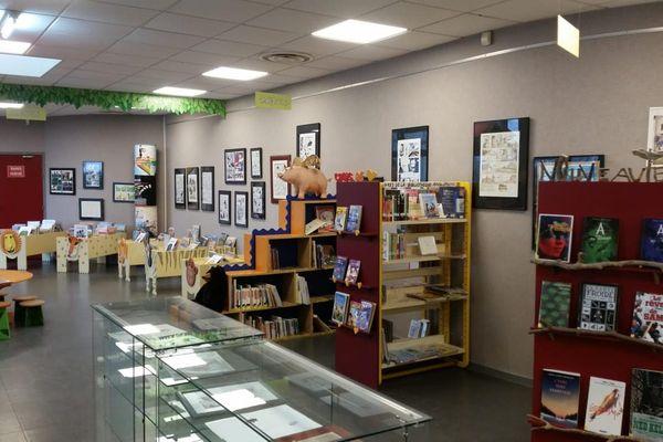 Une exposition de bande dessinée dans une médiathèque, le seul lieu culturel autorisé à accueillir du public pendant la pandémie