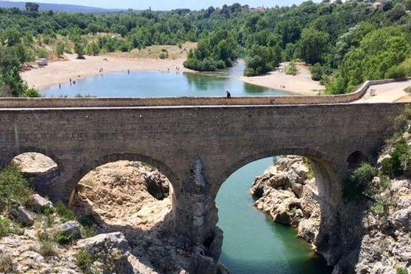 Le pont du diable, dans les gorges de l'Hérault - juin 2019
