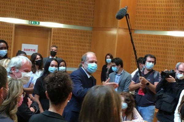 Montpellier : Eric Dupond-Moretti en visite au tribunal judiciaire et à la cour d'appel - 13 septembre 2021.