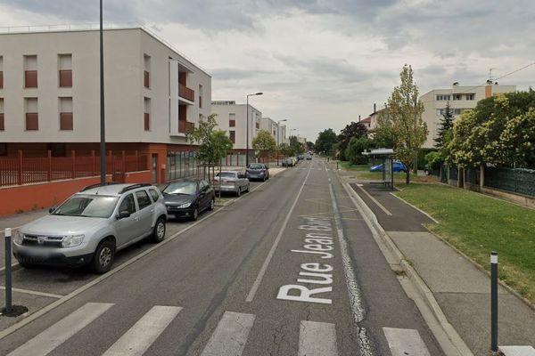 La rue Jean Bart à Bourg-lès-Valence (Drôme).
