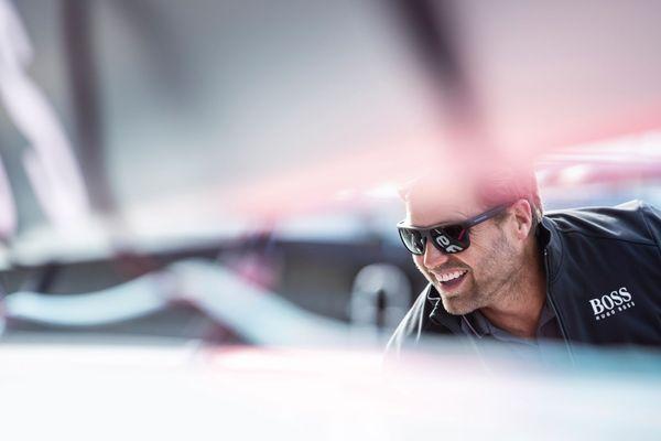 Alex Thomson à bord de Hugo Boss