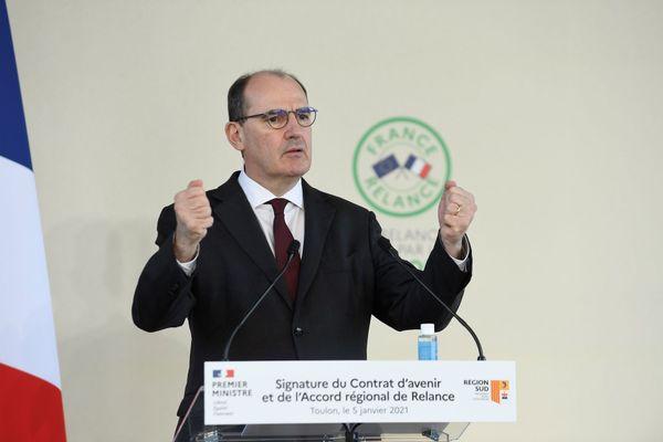 Jean Castex s'est rendu à Toulon pour signer le premier accord régional de relance.