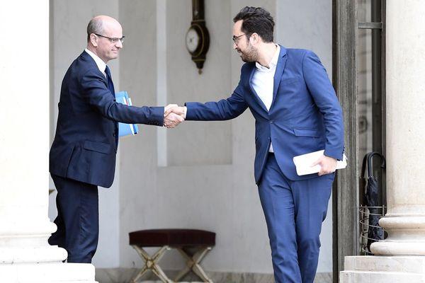 Jean-Michel Blanquer, ministre de l'Education nationale, et Mounir Mahjoubi, secrétaire d'Etat charge du numérique