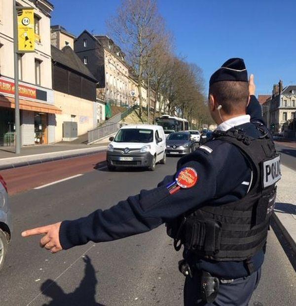 Rouen le 17 mars 2020 - 14h 30 : premiers contrôles dans le centre-ville