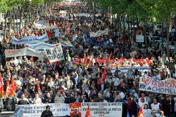 Un défilé du 1er mai à Grenoble en 2009.