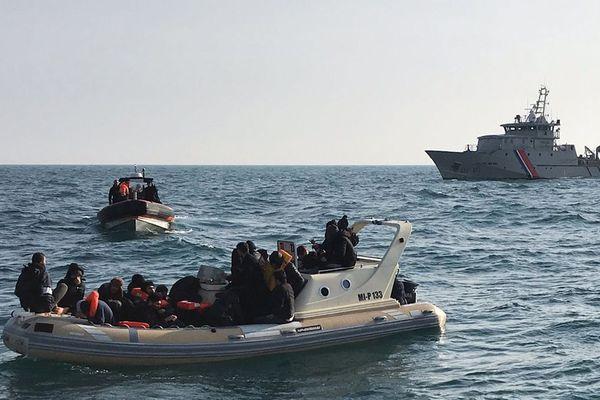 Des migrants sauvés dans la Manche le 18 février 2019