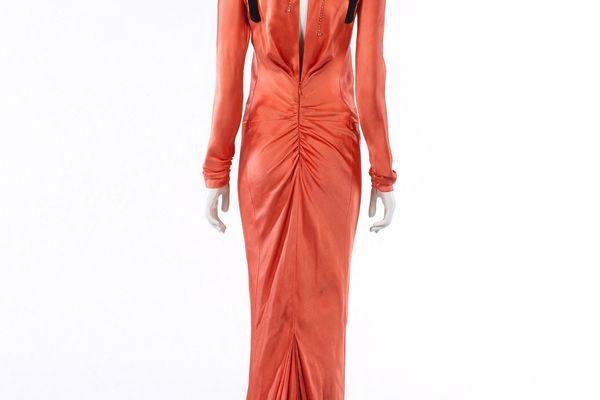 Schiaparelli, Robe du soir portée par Carina Lau, Haute couture, Printemps- Été 2015 (variation)