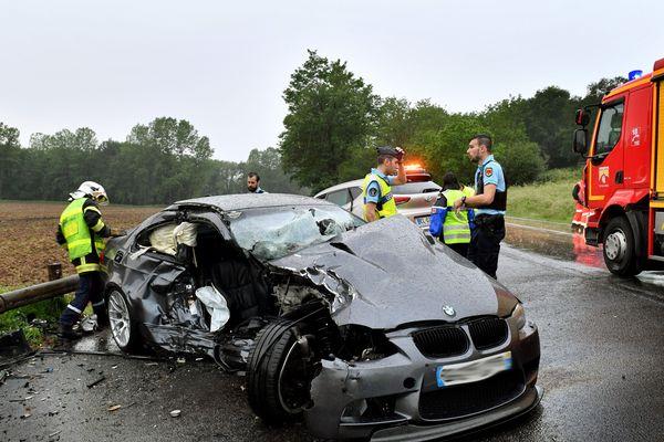 Image d'illustration, accident de la route.