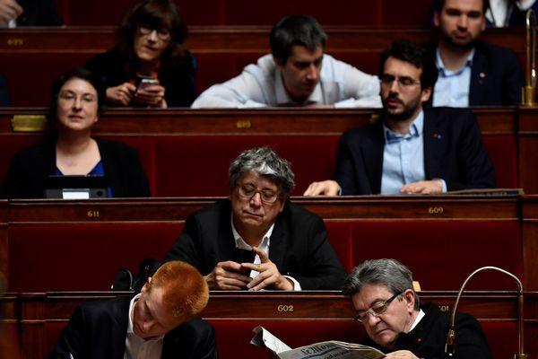 Les députés LFI à l'Assemblée Nationale en avril 2018
