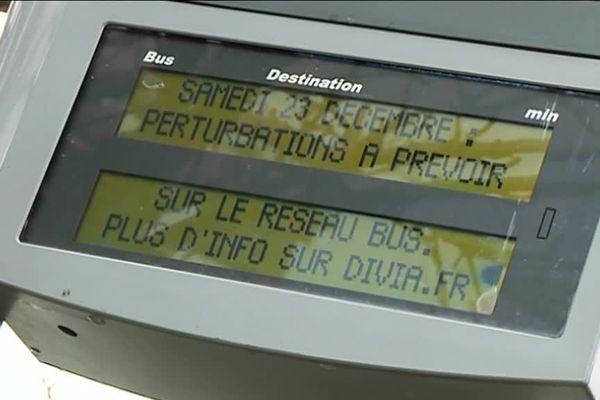 Quelque 60 préavis de grève sont annoncés dans les transports en commun de Dijon à partir du 23 décembre 2017
